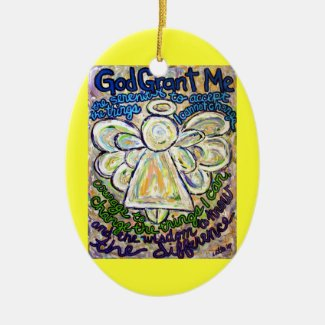 Serenity Prayer Angel Painting Ornament Pendant
