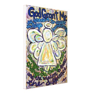 Serenity Prayer Angel Painting Wrapped Canvas Art