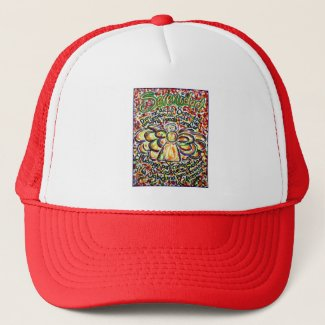 Serenity Prayer Angel (Spanish Text) Trucker Hat
