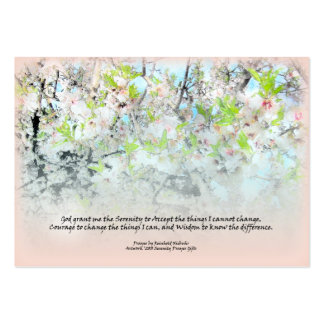 Serenity Prayer Apple Blossoms Profile Card Business Card Templates