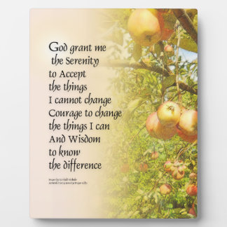 Serenity Prayer Apple Branches Plaque