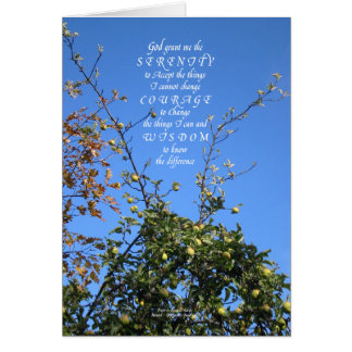 Serenity Prayer Apple Tree Greeting Card