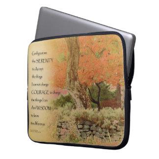 Serenity Prayer Autumn Harmony Laptop Computer Sleeves