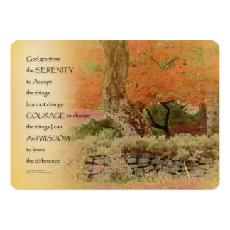 Serenity Prayer Autumn Harmony Large Business Card
