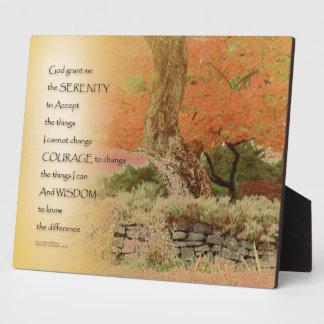 Serenity Prayer Autumn Harmony Plaque