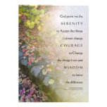 Serenity Prayer Autumn Leaves and Stone Wall Invit Announcements