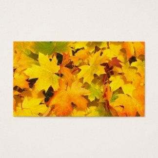 Serenity Prayer Autumn Leaves Business Card