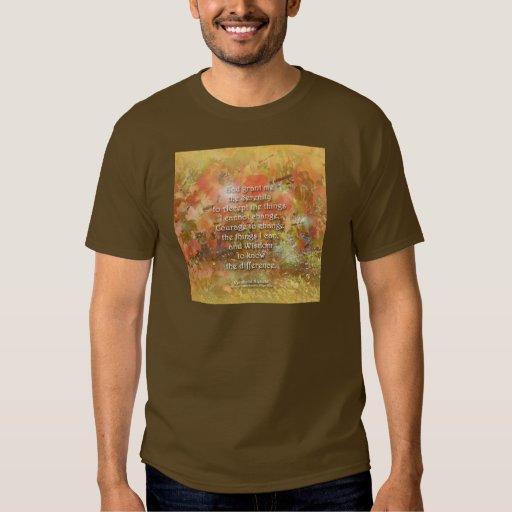 Serenity Prayer Autumn Leaves T-Shirt
