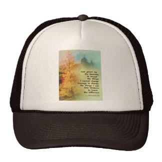 Serenity Prayer Autumn Trees on Green Trucker Hat