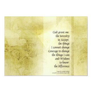 Serenity Prayer Azalea Gentle Custom Invitation