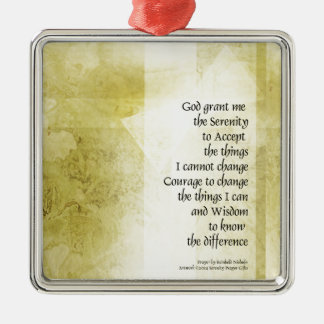Serenity Prayer Azalea Gentle Metal Ornament