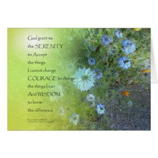 Serenity Prayer Bachelor's Buttons Card