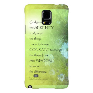 Serenity Prayer Bachelor's Buttons Galaxy Note 4 Case