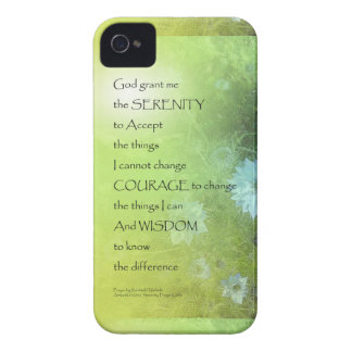 Serenity Prayer Bachelor's Buttons iPhone 4 Cover