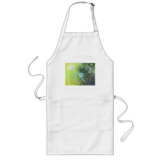 Serenity Prayer Bachelor's Buttons Long Apron