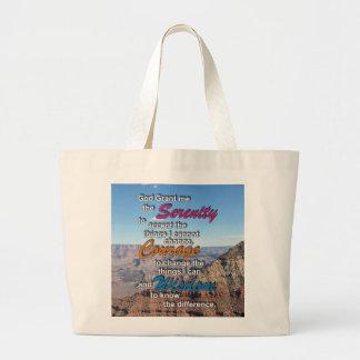 Serenity Prayer Bag-Grand Canyon Picture Large Tote Bag