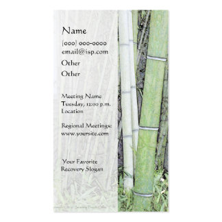 Serenity Prayer Bamboo Business Card
