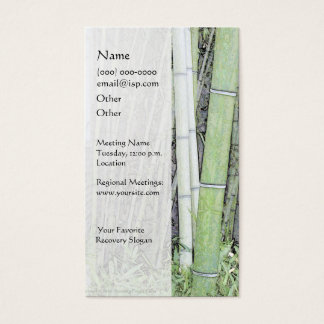 Serenity Prayer Bamboo Business Card