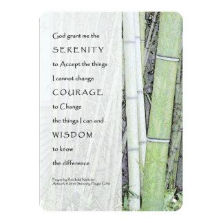Serenity Prayer Bamboo Custom Invitation