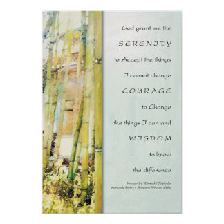 Serenity Prayer Bamboo Garden Print