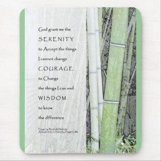 Serenity Prayer Bamboo Mouse Pad