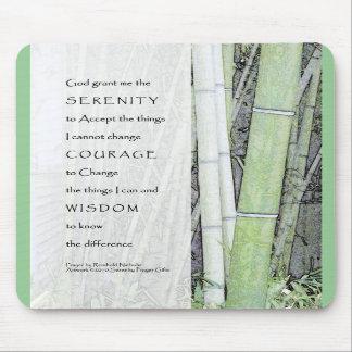 Serenity Prayer Bamboo Mousepads