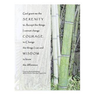 Serenity Prayer Bamboo Postcard