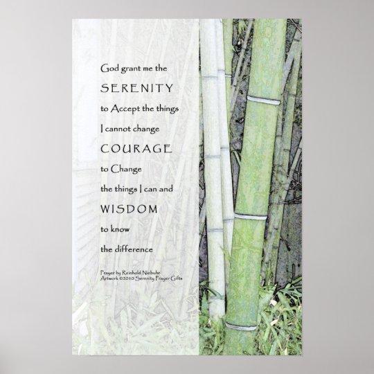 Serenity Prayer Bamboo Print