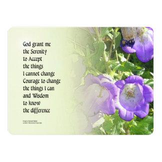 Serenity Prayer Bell Flowers 6.5x8.75 Paper Invitation Card