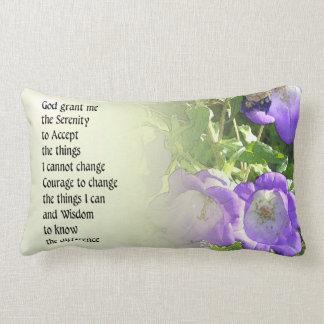 Serenity Prayer Bell Flowers Pillow