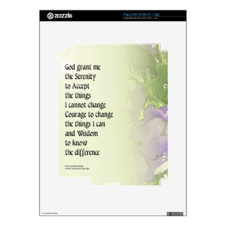 Serenity Prayer Bell Flowers Decals For The iPad 2