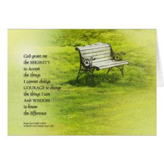Serenity Prayer Bench Card