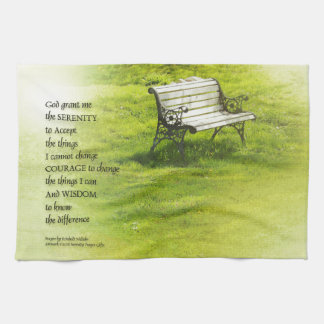 Serenity Prayer Bench Hand Towel