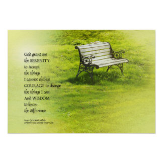 Serenity Prayer Bench Poster
