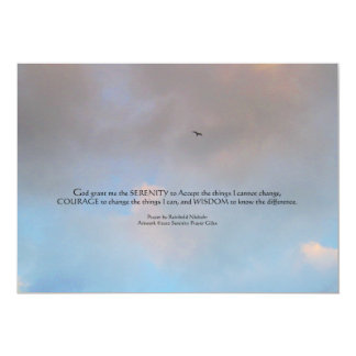 Serenity Prayer Bird in Sky Invitation