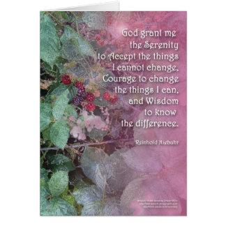 Serenity Prayer Blackberries Card