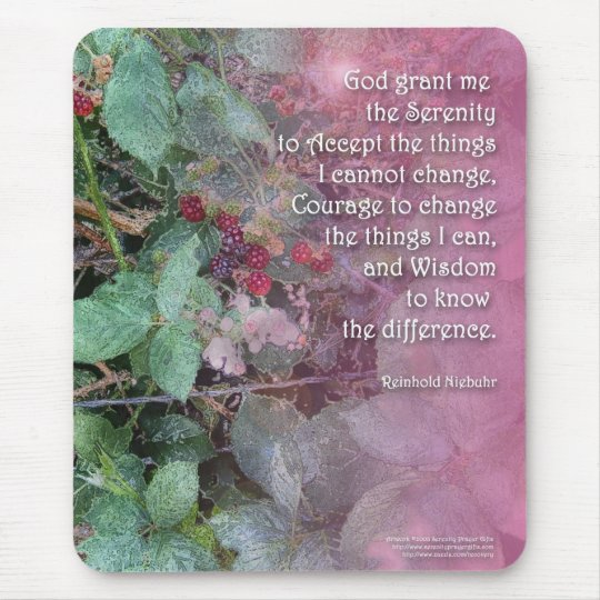 Serenity Prayer Blackberries Mouse Pad