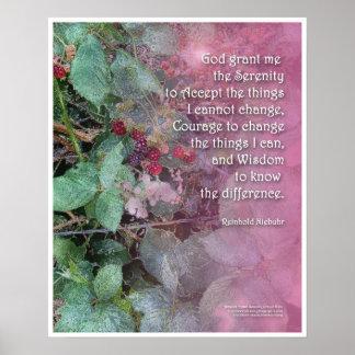 Serenity Prayer Blackberries Poster
