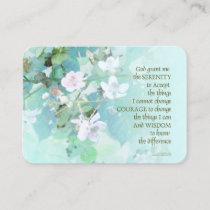 Serenity Prayer Blackberry Blossoms Business Card