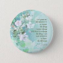 Serenity Prayer Blackberry Blossoms Button