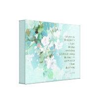 Serenity Prayer Blackberry Blossoms Canvas Print