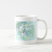 Serenity Prayer Blackberry Blossoms Coffee Mug