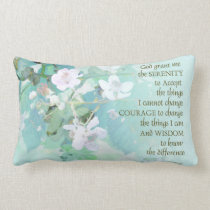 Serenity Prayer Blackberry Blossoms Lumbar Pillow