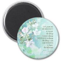 Serenity Prayer Blackberry Blossoms Magnet