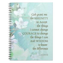 Serenity Prayer Blackberry Blossoms Notebook