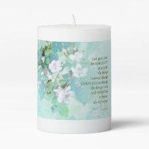 Serenity Prayer Blackberry Blossoms Pillar Candle