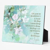 Serenity Prayer Blackberry Blossoms Plaque