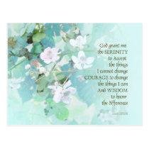 Serenity Prayer Blackberry Blossoms Postcard