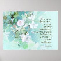 Serenity Prayer Blackberry Blossoms Poster