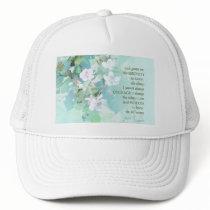 Serenity Prayer Blackberry Blossoms Trucker Hat
